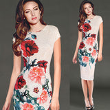 Vintage Flower Printed Dress