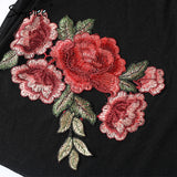 Embroidered Transparent Elastic T-Shirt