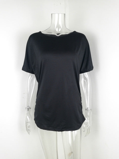 Cotton Cold Shoulder T-Shirt