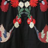 flower bird embroidery Ethnic dress