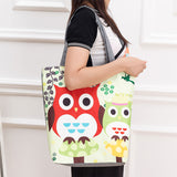 Floral And Owl Printed Bag
