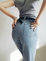 retro waisted jeans
