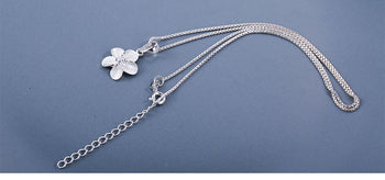 925 Sterling Silver Flower Long Necklaces