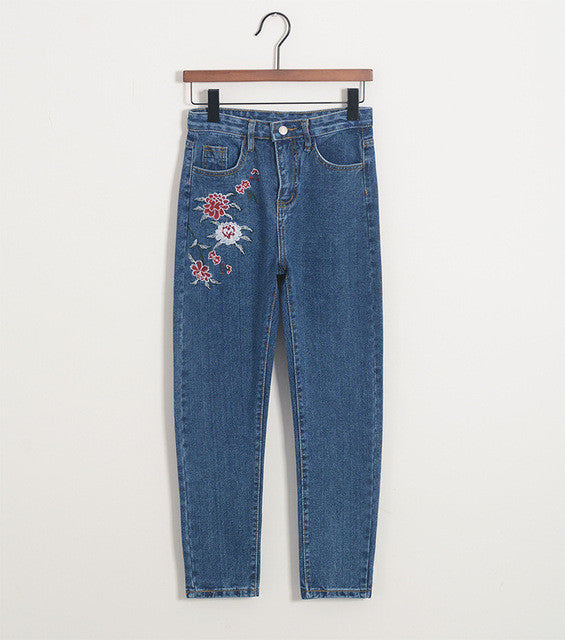Decorative Jean With High Waist