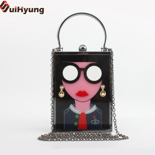 New Casual Perfume Bottle Clutch Bag