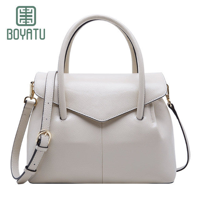 BOYATU Top-handle Leather Bag