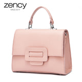 Real Leather Candy Color Handbag