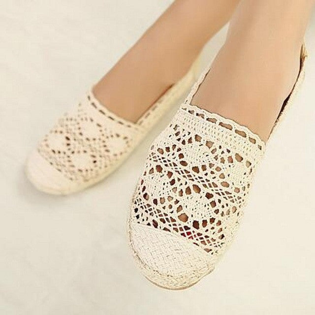 Lace Rope Canvas Shoes