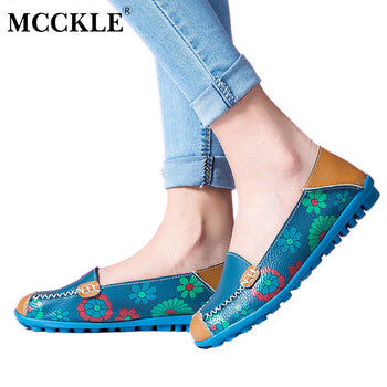 Casual Flower Printing Loafers