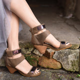 Retro Genuine Leather Sandals