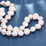 925 sterling silver natural pearl nacklace