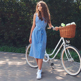 Bothwinner Blue Striped Dress