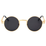 Round Steampunk Clear Lens Sun Glasses
