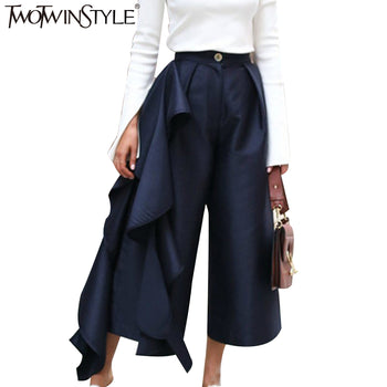 TWOTWINSTYLE Ruffle Trousers  Pants