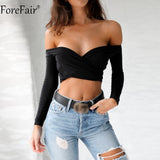 Crop Top Black White Cropped T Shirt