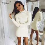 Pofash  Turtleneck Casual Sweater