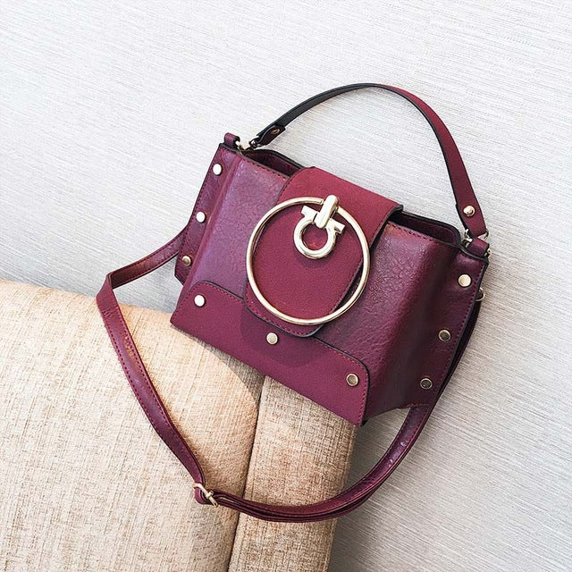 Metal Ring Shoulder Bag