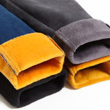 pencil thicken thermal fleece jeans