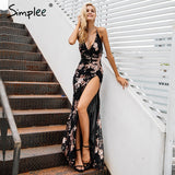 Simplee Sexy lace up halter sequin party dresses