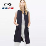 TOTRUST Sleeveless Women Blazers And Jacket