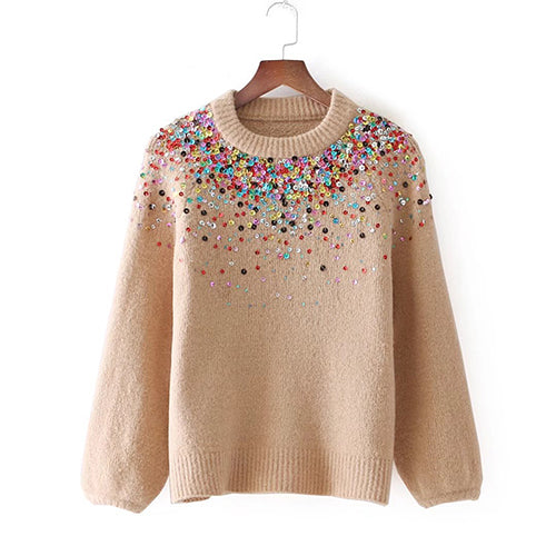Future Time Sequins Short Sweater