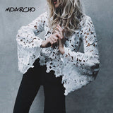 MOARCHO Flare Sleeve White Lace
