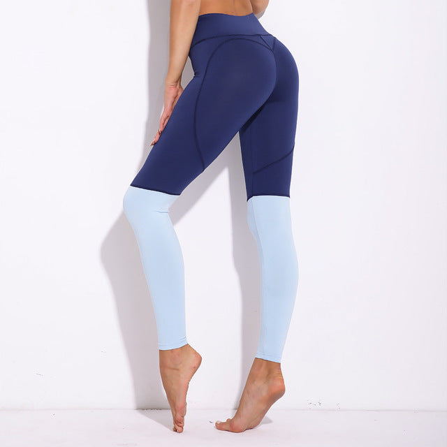 Elastic Workout Patchwork Fitness Leggings