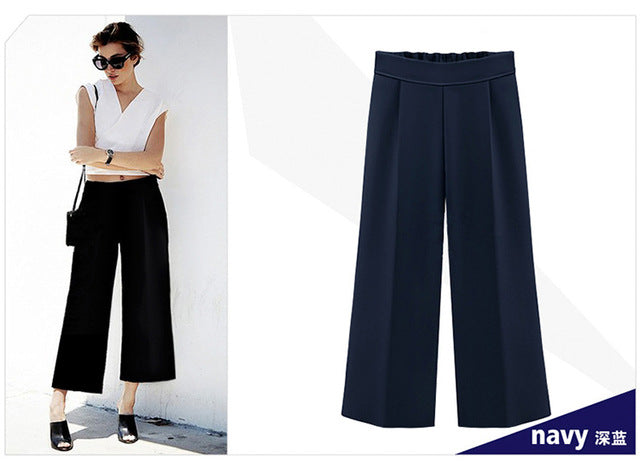 Summer Wide Leg Pants Womens Pants