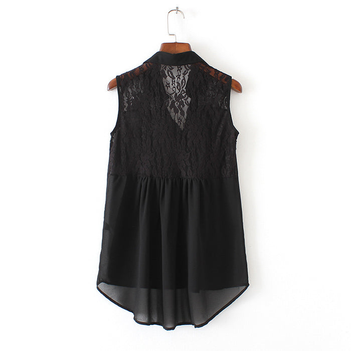 Girls Clothes Long Blouse sleeveless