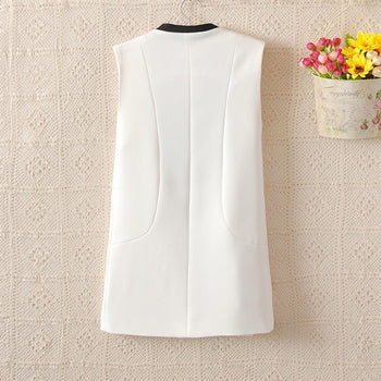 waistcoat sleeveless office vests outerwear