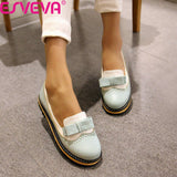 Shallow Mouth PU Leather Shoes