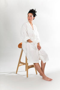 "Linen Robe <span class=""prod-color"">Color: White</span>"