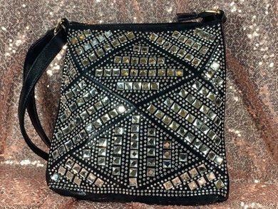 Black Bottari Blingy Rectangle purse