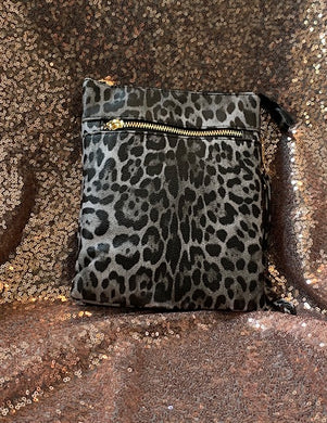 Snow Leopard Vegan Leather Purse