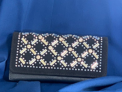 Black & bling rhinestone wallet