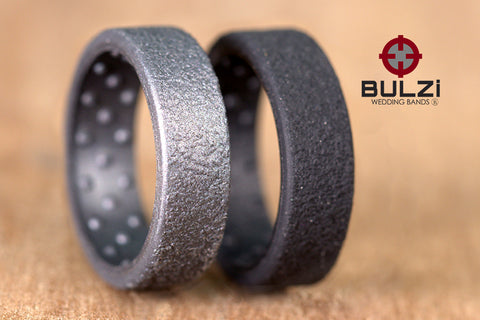 Hammered 2x-LSR Silicone Ring