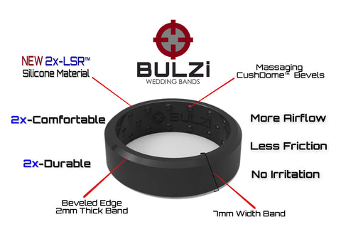 Beveled 2x-LSR Silicone Ring