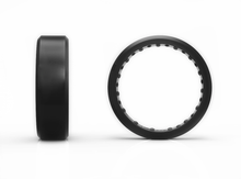 Black Beveled - 2x-LSR Silicone Ring