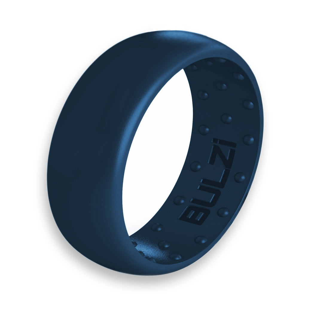 Navy 8mm - Silicone Ring