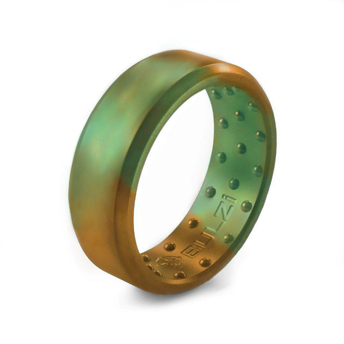 Patina Beveled - 2x-LSR Silicone Ring