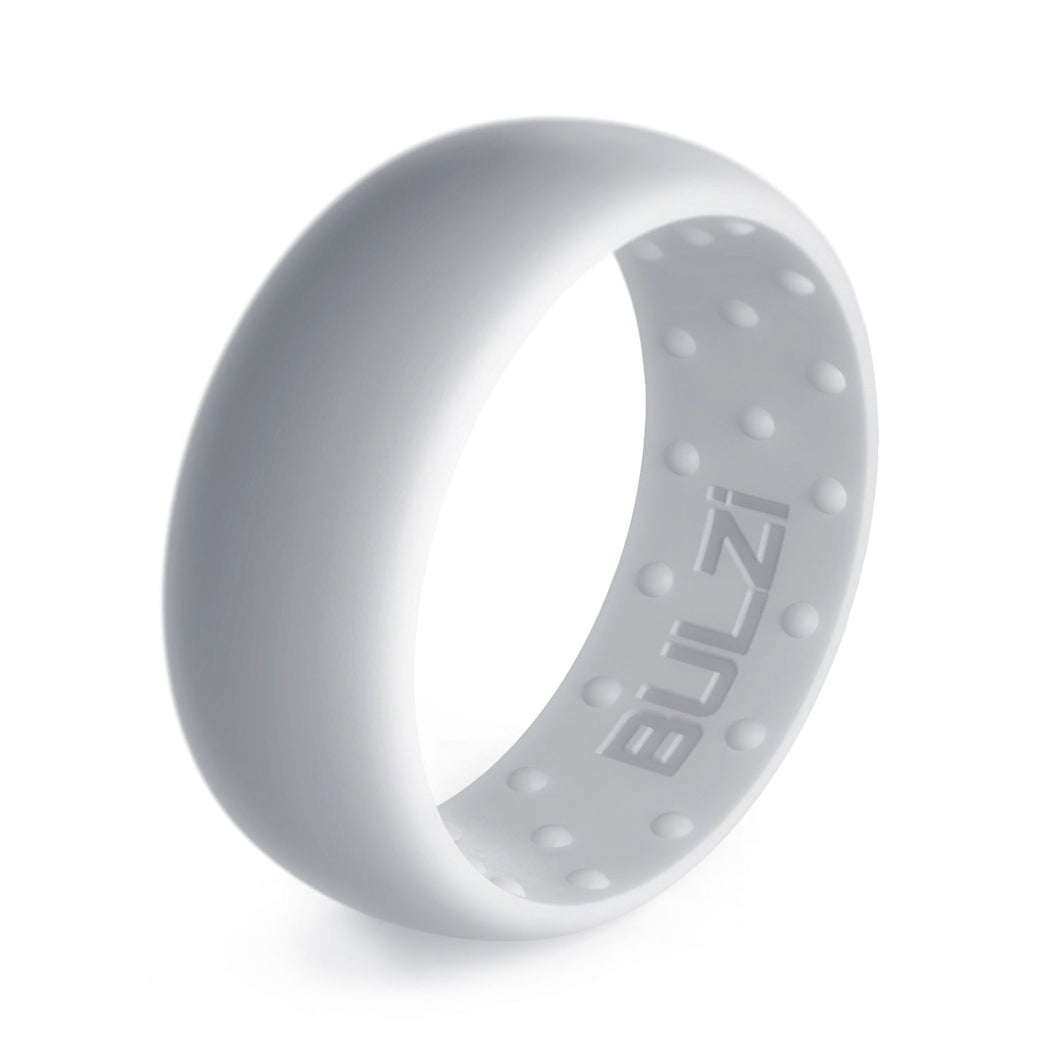 Matte Silver 8mm - Silicone Ring