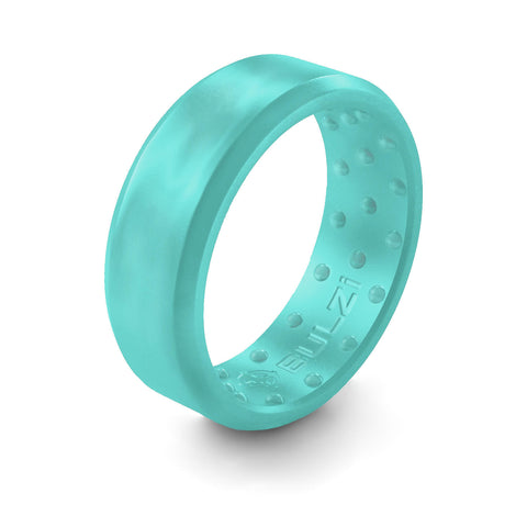Teal Beveled - 2x-LSR Silicone Ring
