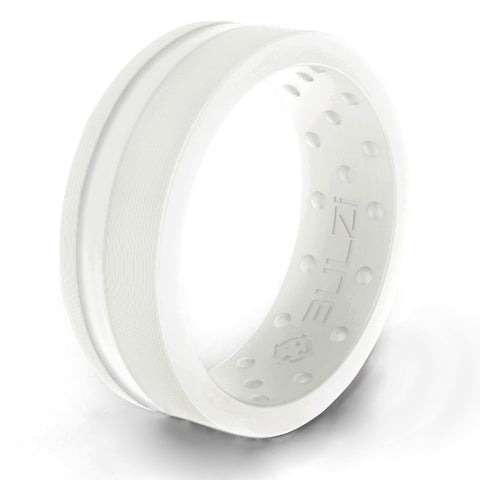 White  Zi2 - Silicone Ring