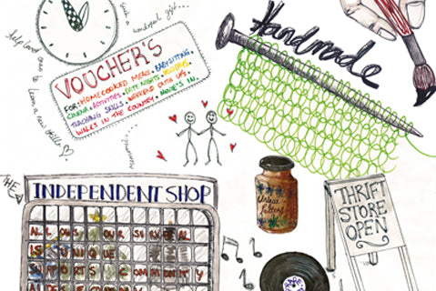 Our illustrative guide to conscious christmas shopping 2018!