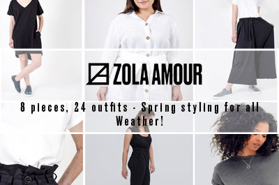 8 pieces, 24 outfits - Spring styling for all Weather!