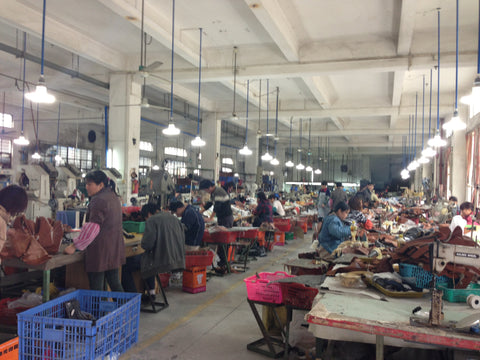 Footwear production factory in China