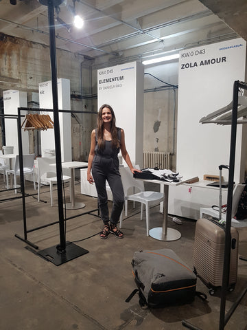 Our empty shell space at the ethical fashion show berlin, green fashion, sustainable fashion