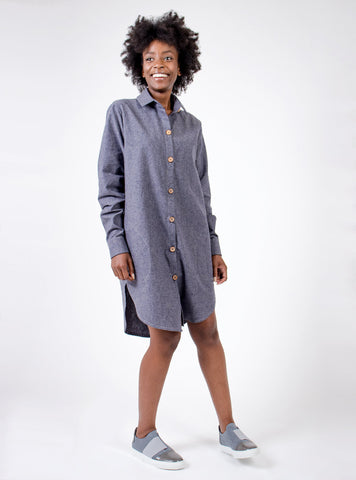 hemp organic shirt dress without belt