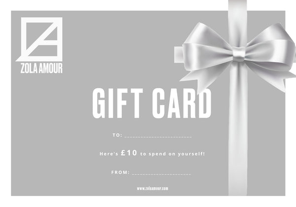 Zola Amour sustainable ethical fashion gift card.