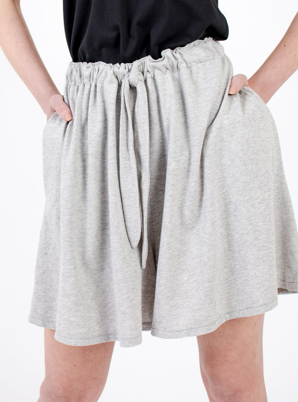 Organic Cotton Shorts - Light Grey
